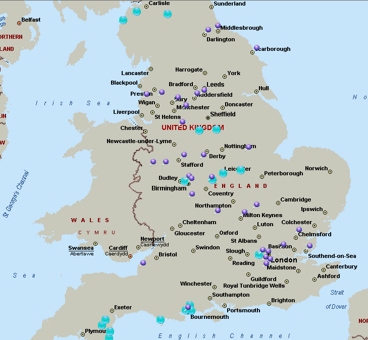 Map Of Uk Hospitals.Expected Closures Of Nhs Services The Association For