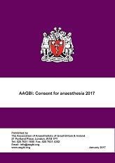 AAGBI - New guidance on patient consent for anaesthesia